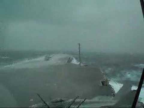 USS Kitty Hawk Big Wave