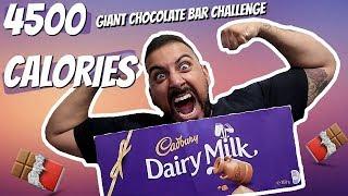 FOOD CHALLENGE | Giant Chocolate Bar | 4500 Calories | DevTV