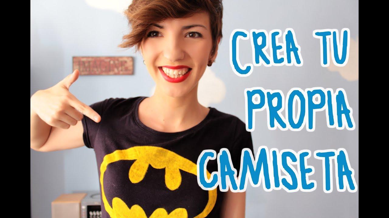Crea tu propia camiseta f cil y barato el rinc n del manitas 3 youtube - Plantillas para pintar camisetas a mano ...
