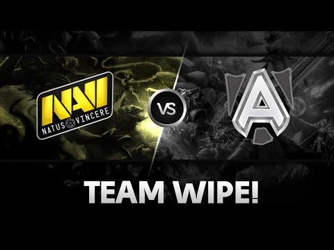 Team wipe by NaVi vs Alliance  DAC 2015