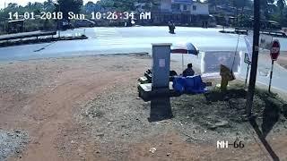 Udupi : Innova Bike Accident CCTV video || News Kannada