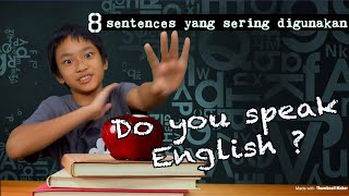 8 KALIMAT INGGRIS PENTING (For kids and adults)