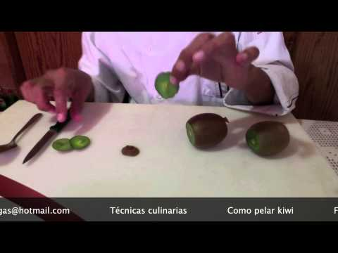 Chef Vargas México Técnicas culinarias Como pelar kiwi