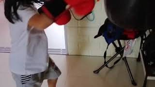 Acelynn Boxing training.