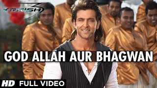"download lagu ""god Allah Aur Bhagwan Krrish 3"" Full  Song gratis"