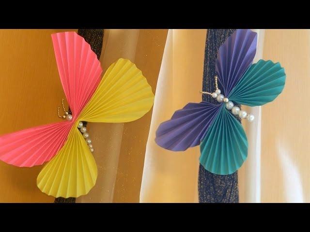 Бабочки своими руками / Поделки из бумаги и бисера
