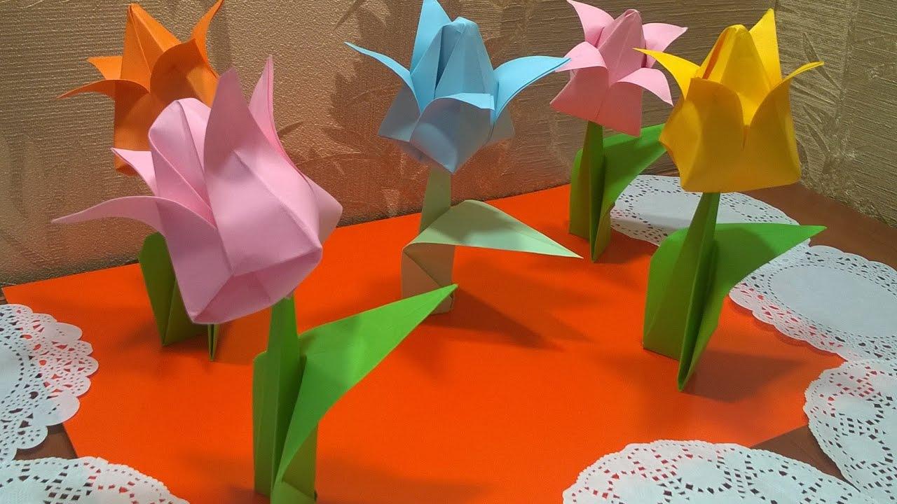 Сделать цветок подарок 8