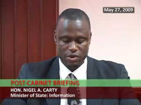 St. Kitts & Nevis Post-Cabinet Statement by Nigel Carty (May 27, 2009)