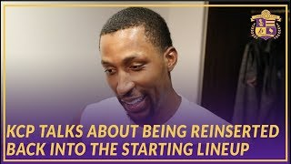 Lakers Post Game: KCP Talks About Being Reinserted Back Into the Starting Lineup