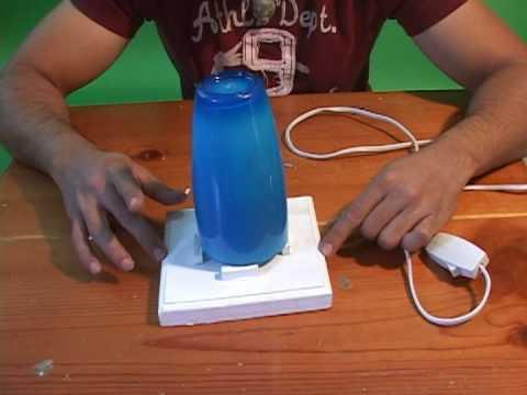 Iteso lampara youtube - Como hacer una lampara de mesa casera ...