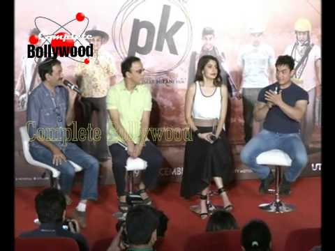 Anushka Sharma,Aamir Khan,Rajkumar Hirani Launch Trailer of 'PK'  2