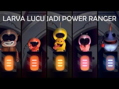 Larva Lucu Jadi Power Ranger