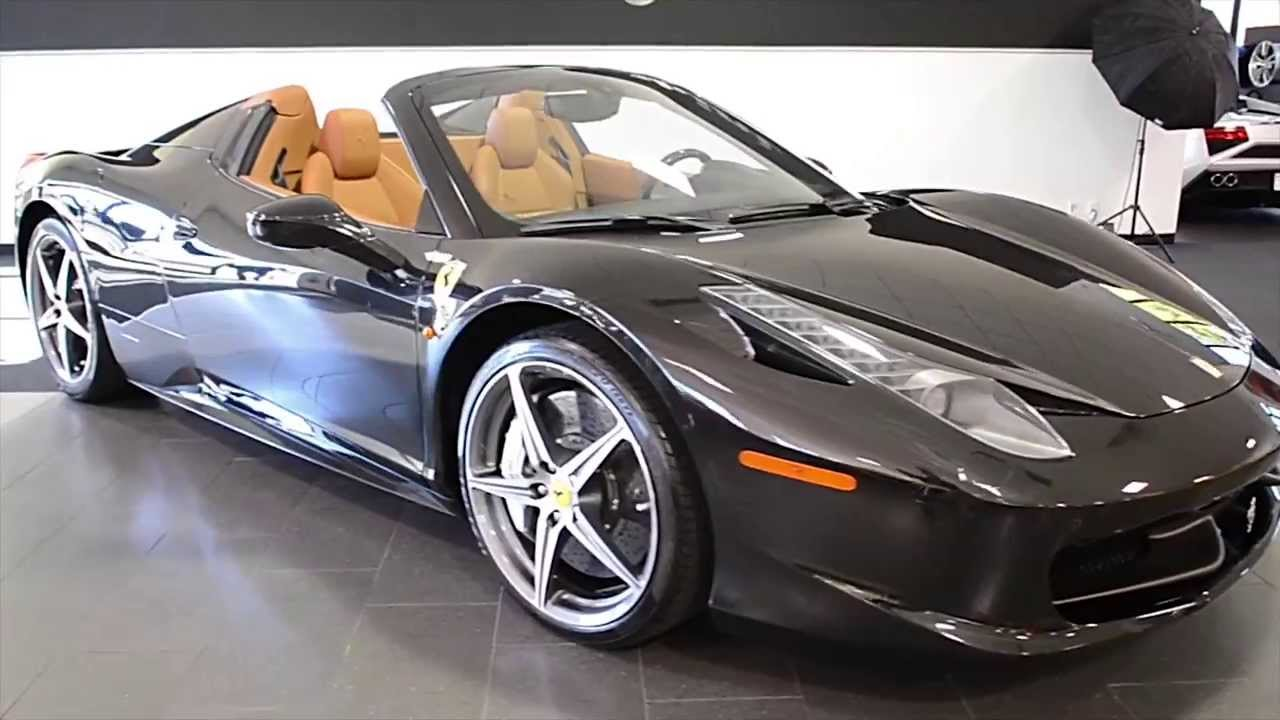 Carfax Report Free >> 2012 Ferrari 458 Italia Spider Nero Daytona - YouTube