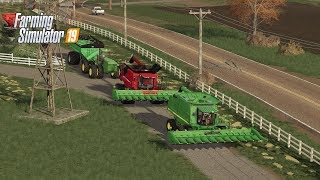 HARVESTING CORN WITH THE CREW (lIVESTREAM) FARMING SIMULATOR 19
