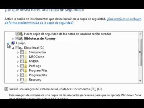 Crear copia de seguridad en Windows 7