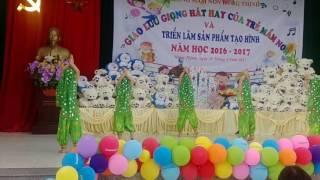 Múa ấn độ của các bé 5 tuổi trường mầm non Hưng Thịnh