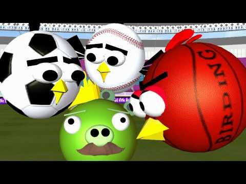 Ball Games With The Angry Birds  ♫ 3d Animated Spoof ☺ Funvideotv-style video