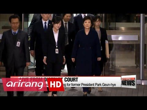 Arrest warrant hearing for former President Park Geun-hye ends
