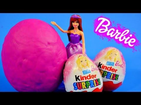 Kinder Chocolate Surprise Eggs Barbie My Little Pony Toys Play Doh Surprise Egg Zelfs