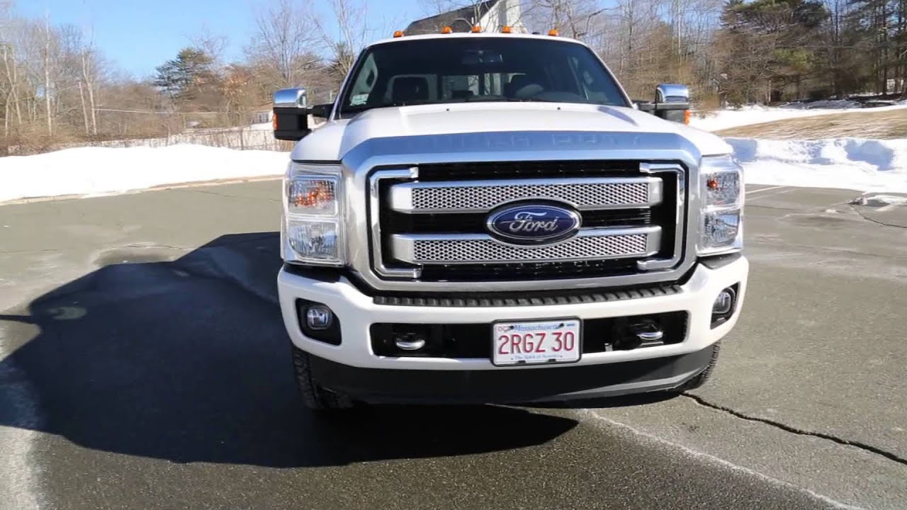 New Ford F150 Diesel >> 2013 Ford Super Duty Platinum 6.7L PowerStroke Power Stroke Turbo Diesel - YouTube