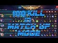 Mobile Legends : Amazing Battle 100 Kill in One Match