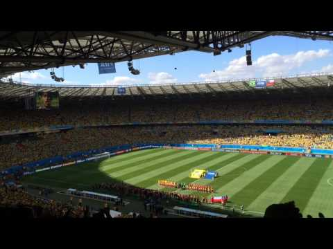 Brazil vs Chile 6/28/14 - Brazilian National Anthem