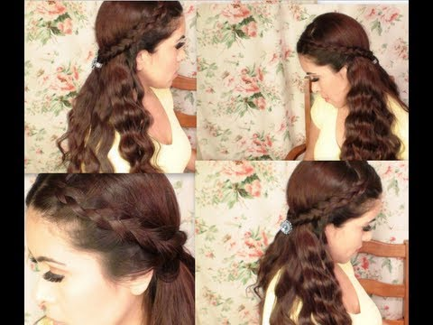 jessica alba inspired braids with wavy hair down youtube