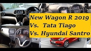 Maruti Wagon R 2019 Vs Tata Tiago Vs Hyundai Santro Review as Best Buy