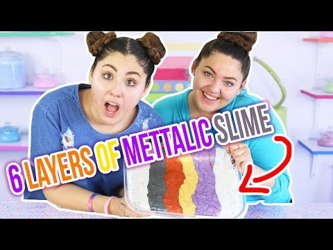 MEGA 6 LAYER METALLIC SLIME | GOLD, SILVER, COPPER, ETC... | Slimeatory #30