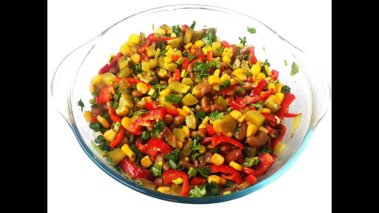 Салат из вареной белой фасоли рецепт с