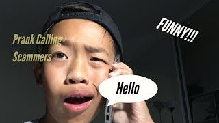 PRANK CALLING SCAMMERS (FUNNY)