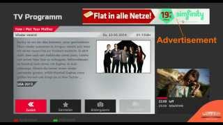 HbbTV ProSieben EPG, Highlights and HbbTV Games example