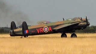 Two Avro lancaster Bombers very rare flight together@Blackpool Airport