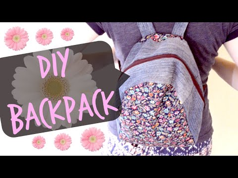 DIY Denim Backpack   Upcycled Denim Backpack