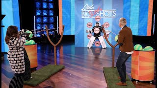 Melissa McCarthy and Ellen Take Aim at Average Andy in 'Little Big Slingshots'