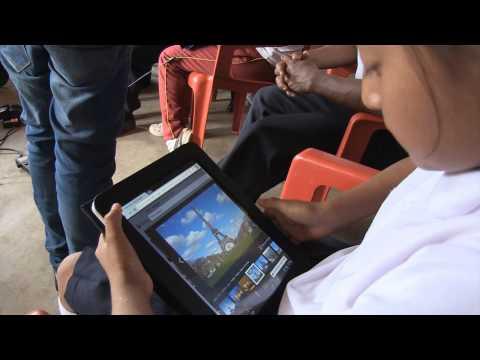 Yidith viaja con las Tabletas para Educar