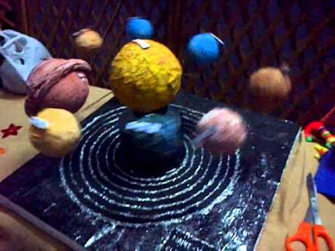 Working Model Of Solar System Youtube