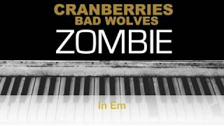 Download Lagu The Cranberries - Zombie Bad Wolves Karaoke Chords Instrumental Acoustic Piano Cover Lyrics Gratis STAFABAND