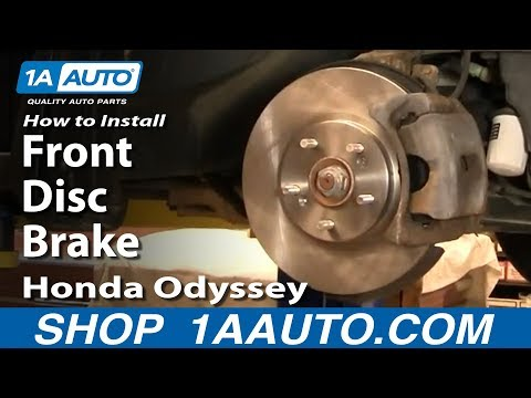 How To Install Replace Do A Front Disc Brake Job Honda Odyssey 99-04 1AAuto.com