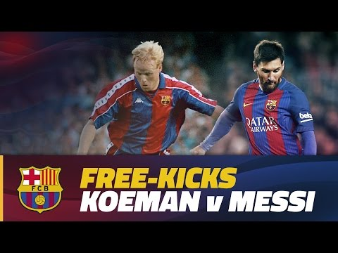 FC Barcelona - Lionel Messi vs Ronald Koeman: direct free kicks