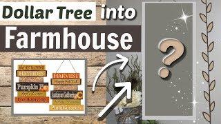 DIY Dollar Tree Farmhouse Wall Sign | Farmhouse DIY Dollar Tree Decor | Krafts by Katelyn