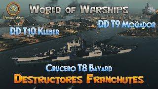 World of Warships - Destructores Franceses - Crucero Bayard Premium