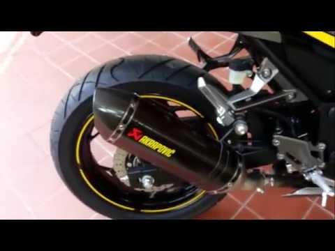 Ninja 300สีเทาดำ เสียงท่อakrapovicแท้