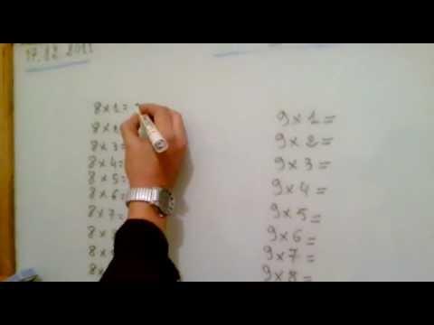 طريقة سهلة لحفظ جدول الضرب في 8 و9