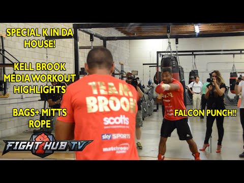 Shawn Porter vs. Kell Brook- Brook media workout: Bags + Mitts+ Rope