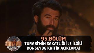 Survivor 2018   95.Bölüm    Turabi'nin Sakatlığı İle İlgili Konseyde Kritik Açıklama!