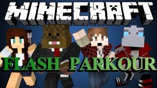 FAST AS A BULLET in Minecraft (Flash Parkour Map) w/ BajanCanadian, NoochM and AshleyMarieeGaming