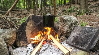 Weekend Campout, 3 Days at a Bushcraft Camp - Episode 5