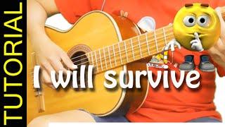 Como tocar I WILL SURVIVE en guitarra acustica Cover