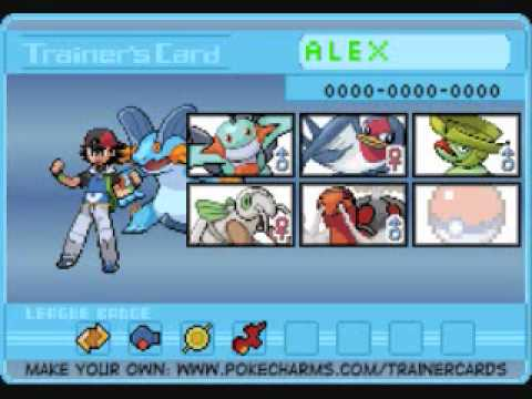 my journey in pokemon emerald trainer cards youtube. Black Bedroom Furniture Sets. Home Design Ideas